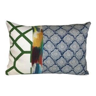 Kim Salmela Blue Patchwork Pillow