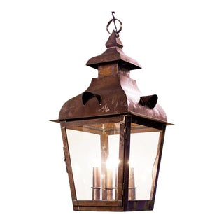 Hand-Made American Over-Scaled Brass Lantern