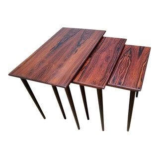 Westnofa Mid-Century Rosewood Nesting Tables - Set of 3
