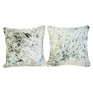 Custom Natural Cowhide & Down Pillows - A Pair