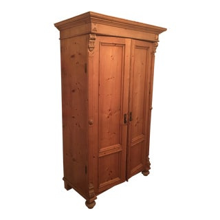 Light Wood French Style Armoire