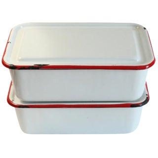 Enamel Refrigerator Boxes - A Pair
