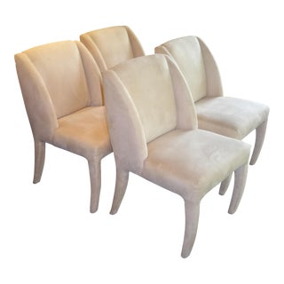 Four 80s Vladimir Kagan Modern Dining Chairs for Directional