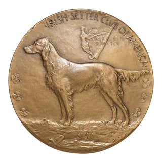 Irish Setters Club of America Bronze Medallion by Laura Gardin Fraser c.1922 / 1954