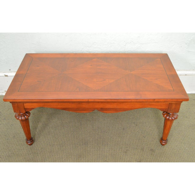 Lexington cherry wood regency style rectangular coffee for Table th width ignored
