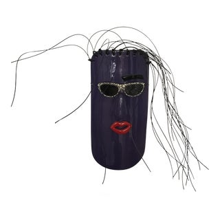 Vintage Ora Sterling Plum Foolish Art Mask