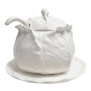 Metlox White Cabbage Tureen Set