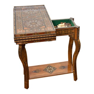 Syrian Wooden Multi-Game Side Table