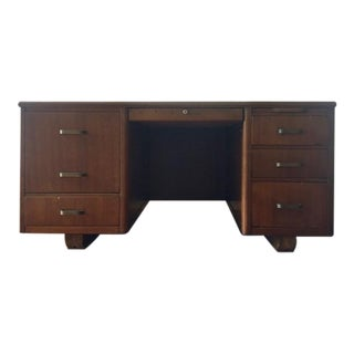 Mid-Century Lehigh Leopold Executive Desk