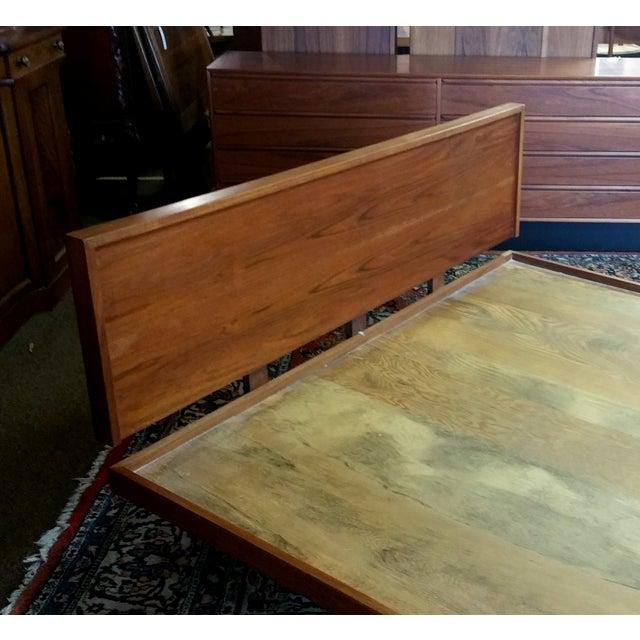 Image of Vintage Danish Teak Floating Platform Bed