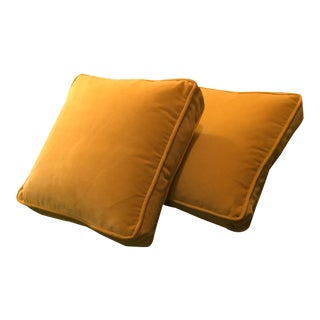 Velvet Box Edge Pillows - A Pair