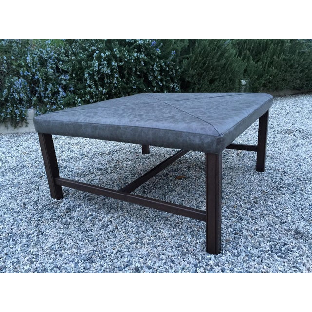 Image of Ottoman Coffee Table with Vegan Leather