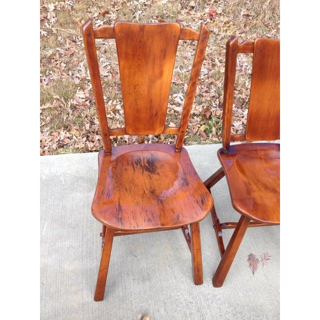 Heywood Wakefield Priscilla Flat Bone Back Chairs Set Of