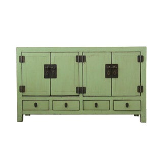 Antique Chinese Light-Green Lacquered Sideboard