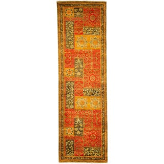 "Suzani Hand Knotted Runner - 3'2"" X 10'4"""