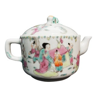 Famille Rose Porcelain Tea Pot