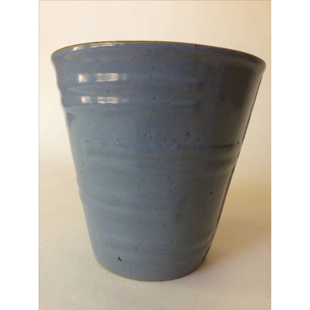 Machine Age Blue-Grey Flower Pot - Image 6 of 11