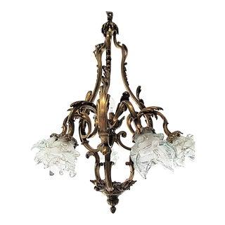 French Bronze-Dore' Art-Nouveau Fixture