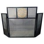 Image of Asian-Style Metal Fire Screen