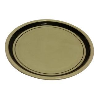 "Celebrity China ""Cortez"" Grey/Black Round Platter"