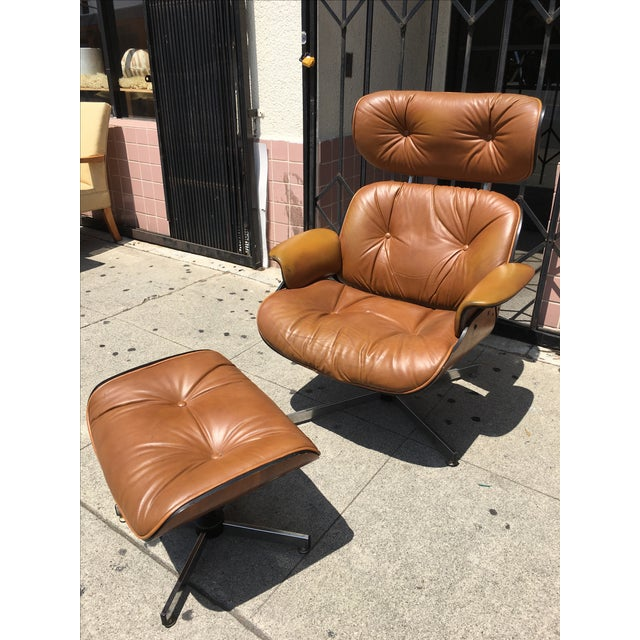 Mid-Century Lounge Chair & Ottoman by Plycraft - Image 4 of 4