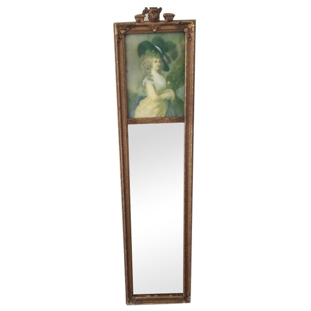 Trumeau Mirror with 18th Century Woman - Image 1 of 6