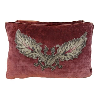 Petite Applique Velvet Pillows - a Pair