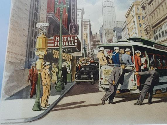 Frank Serratoni San Francisco Cable Car Painting   Image 3 Of 11