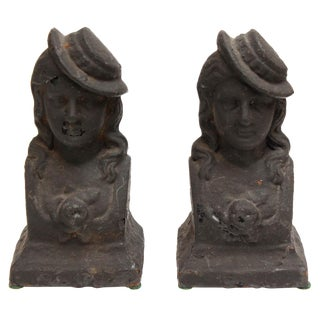 Andiron French Chenets, Ladies - Pair