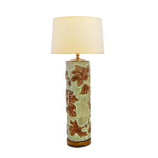 Large Vintage Wallpaper Roller Lamp