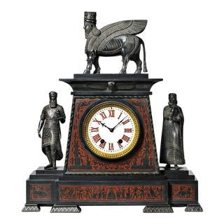 19th Century French Grand Tour Assyrian Revival Clock