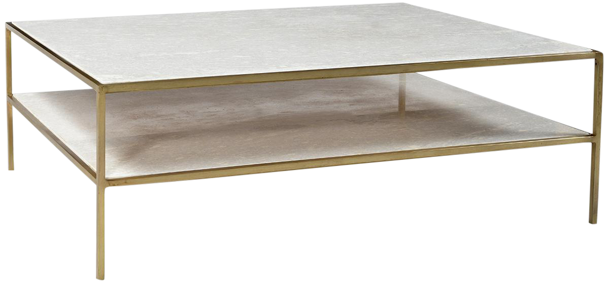 White Marble Brass Coffee Table Chairish