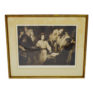 Early Christ in the Temple Framed Print by Heinrich Hofmann