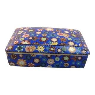 Vintage Porcelain Box. Lord & Taylor Floral Box.