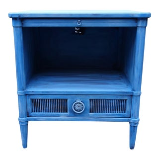 Blue Henredon Side Table