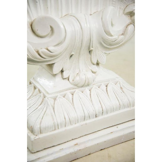 Nautical Seashell White Lacquered Entryway Table - Image 8 of 11