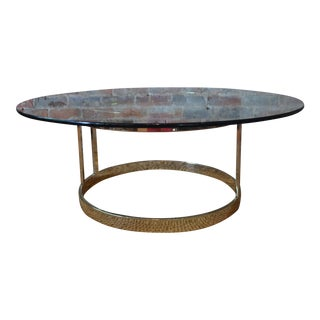 Vintage Round Brass Coffee Table