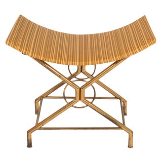 Italian Brass X-Base Bench after Gio Ponti