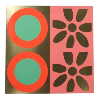 1960s Targets and Daisies Artist's Proof Original Print by Peter Gee