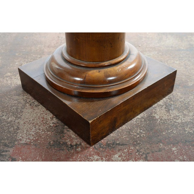 Antique Carved Colonial Walnut Pillar Pedestal - Image 5 of 10