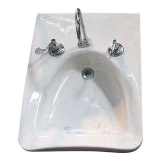 Reclaimed Handicapped Wheelchair Wall Sink