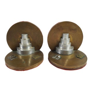 Army Corp Engineers Brass Bookends - A Pair