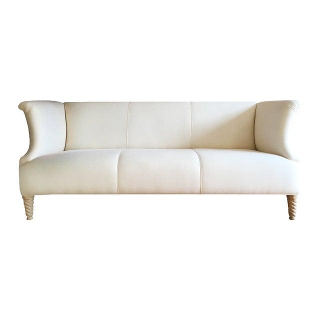 Twisted Leg Sofa + Custom Upholstery Service - Image 1 of 7