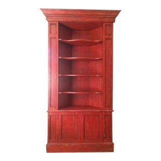 Red Painted Corner Cabinet