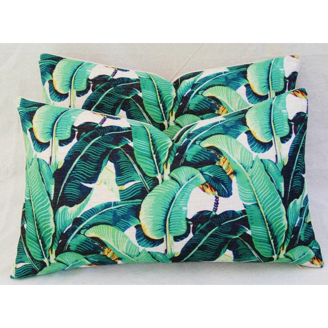 Dorothy Draper-Style Banana Leaf Pillows - A Pair - Image 8 of 11