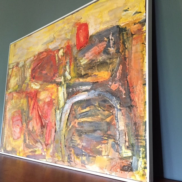 Walter Hook Mid-Century Abstract Painting - Image 3 of 7