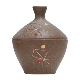 Geometric Ceramic Pot Sculpture