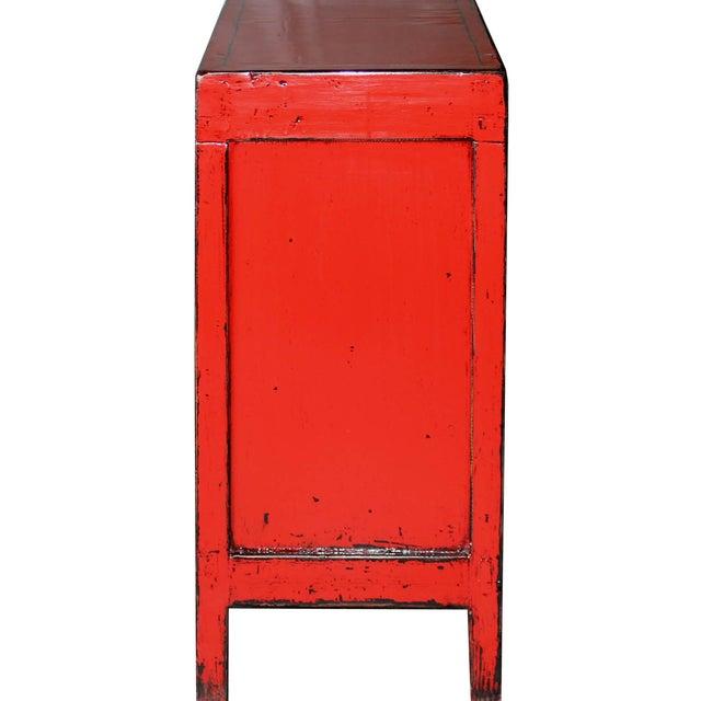 Red Paneled Door Sideboard - Image 5 of 5