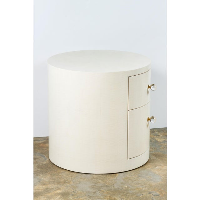 Italian-Inspired 1970s Style Round Nightstand - Image 7 of 8