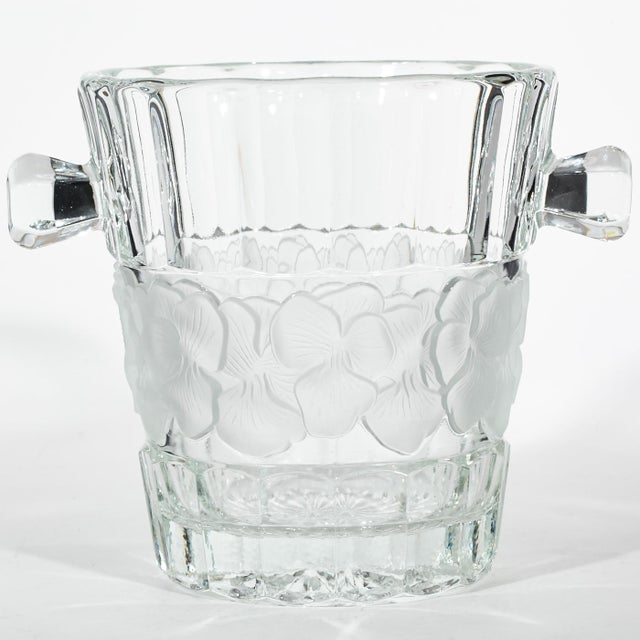 Vintage Floral Glass Champagne Ice Bucket - Image 2 of 4